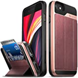 """Vena vCommute Wallet Case Compatible with Apple iPhone SE 2020 / iPhone 8 7 (4.7""""-inch), (Military Grade Drop Protection) Fli"""