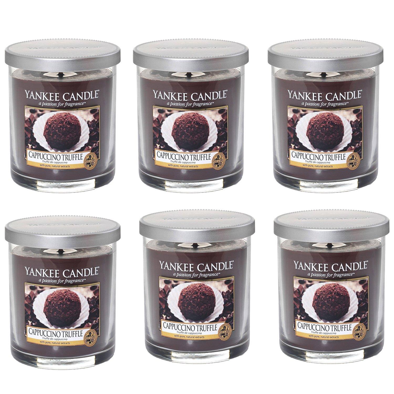 (Confezione da 6) cappuccino Truffle Yankee Candle piccola candela marrone candela profumata tumbler- profumo aromaterapia lusso profumato candela profumata in barattolo di vetro con coperchio–stoppino, –198g -198g candle yankee