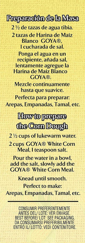 Goya Masarepa Blanca - Paquete de 10 Unidades: Amazon.es ...