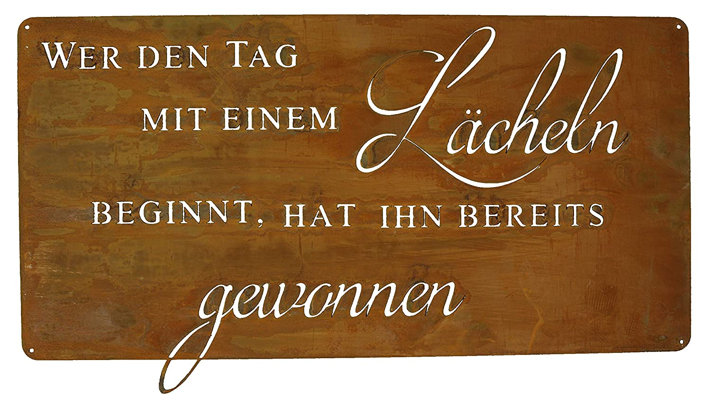 Cartel Oxidado Sonríe con una Lebensweisheit, Pizarra Frases ...