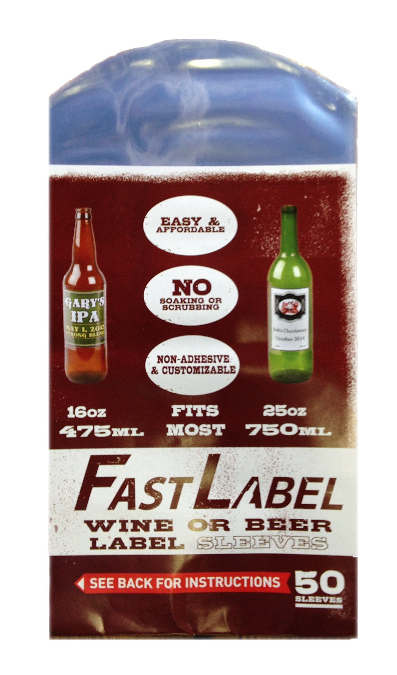 FastLabel Fermentation Accessories - Standard Wine Bottle Labels - Never scrub a bottle again brought to you by FastFerment