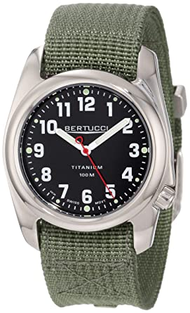c9bc29c0d2a Image Unavailable. Image not available for. Color  Bertucci Men s 12042 A-2T  High Polish Durable Titanium Field Watch