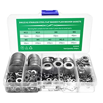 STAINLESS STEEL A2 SHAKEPROOF WASHERS MIXED PACK 350 PIECES M3 M4 M5 M6 M8 M10