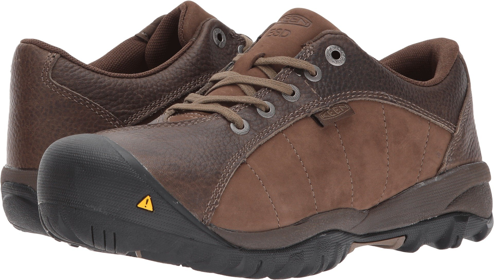 KEEN Utility Women's Santa FE at ESD Industrial and Construction Shoe, Cascade Brown/Shiitake, 7 M US