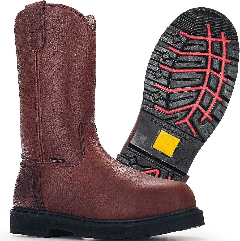 ROCKROOSTER Mens Work Boots, Steel Toe