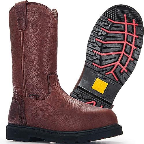 Work Boots, Steel Toe, Waterproof