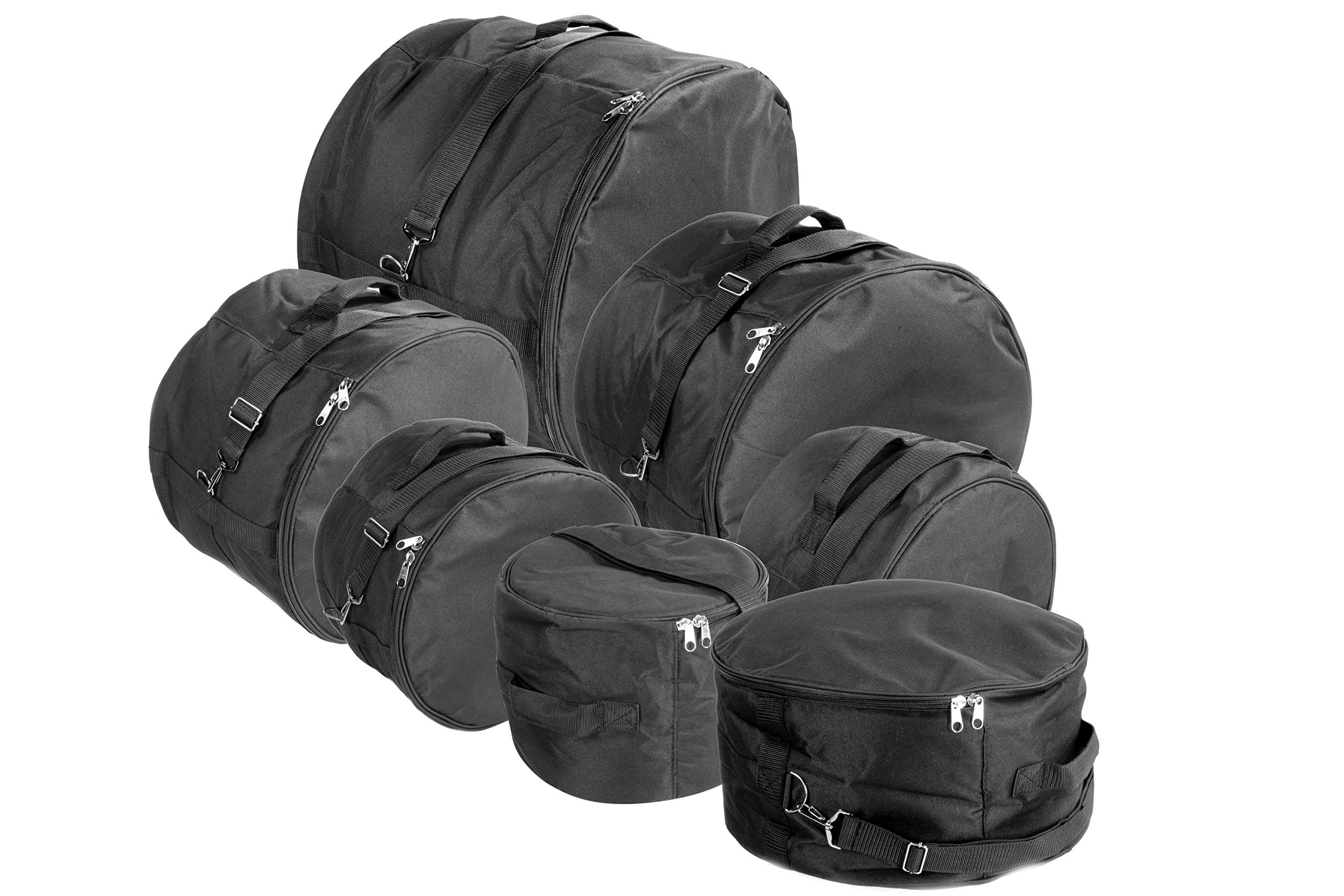 XSPRO DGB-XS7 7 Piece Standard Deluxe Padded Drum Bag Set