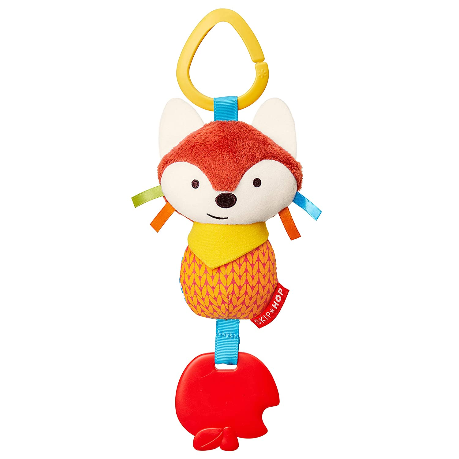 Skip Hop Bandana Buddies Baby Activity Chime & Teether Stroller Toy, Fox