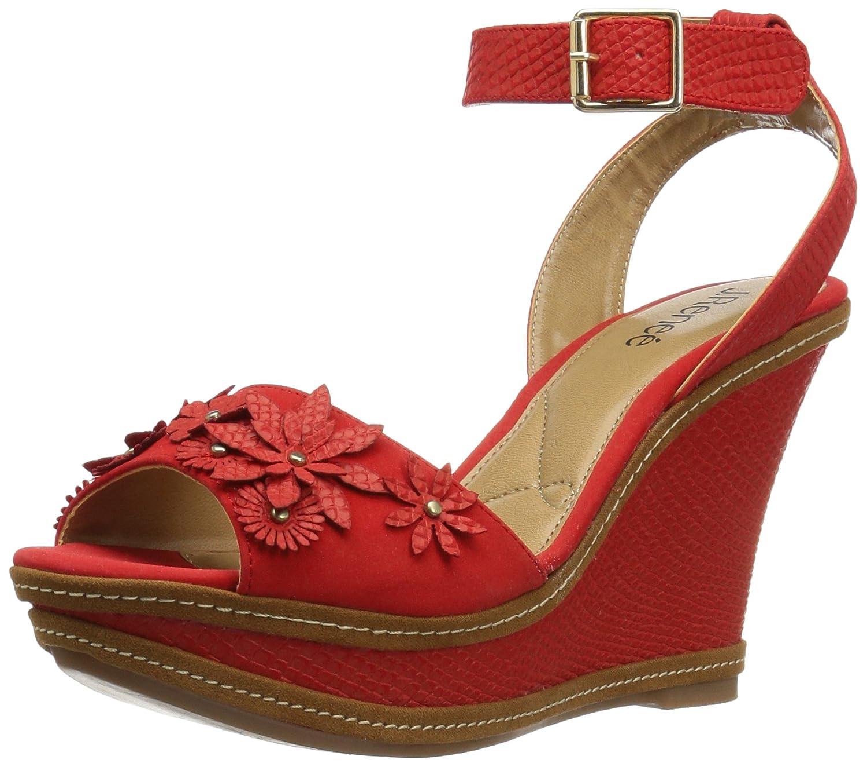 J.Renee Women's Alawna Wedge Sandal B01N7L27EN 9 B(M) US|Red