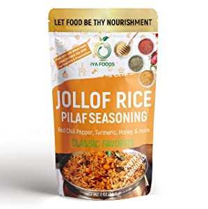 IYA FOODS Jollof Rice Seasoning 2 Ounce No Preservatives, No Added Color, No Additives, No MSG