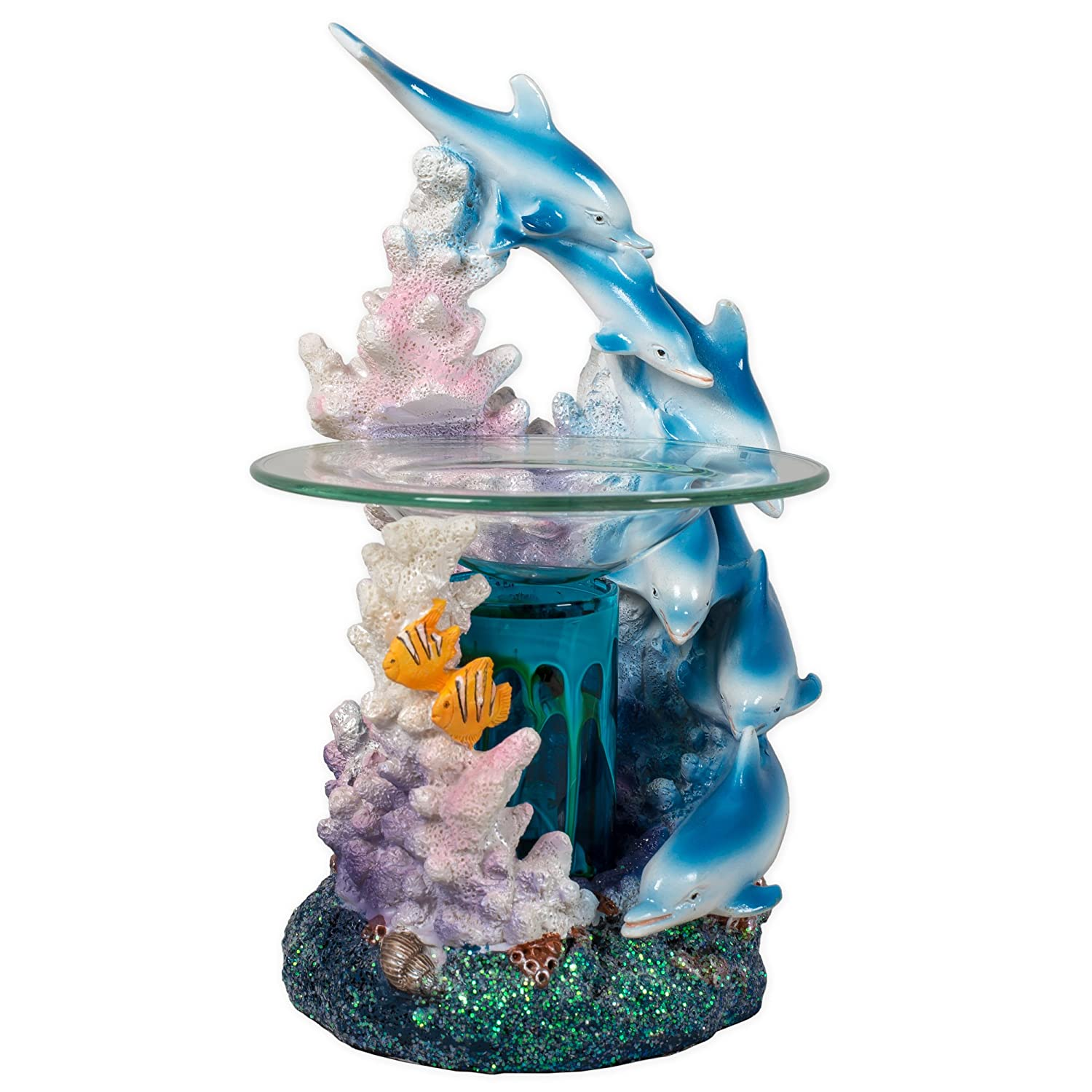 Electric Dolphin Polyresin Oil Warmer with Dimmer Switch - Dolphin and  Coral Reef