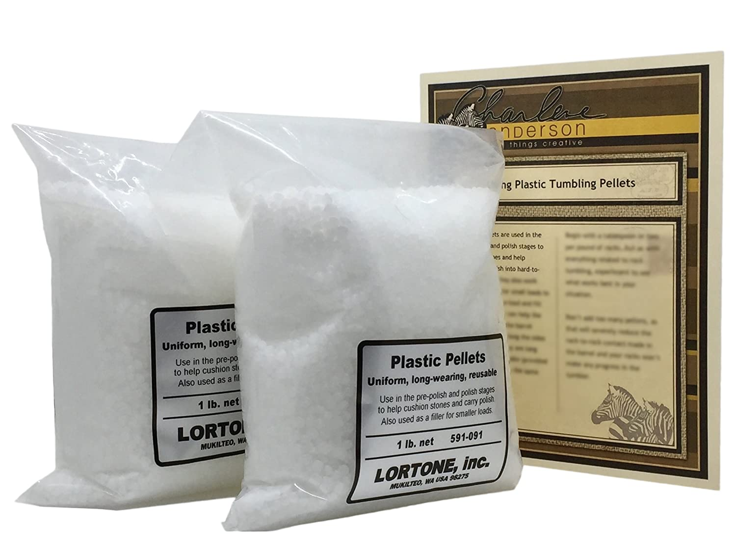 Lortone 591-091 Plastic Pellets for Rock Tumbling & Rock Polishing with Tumbling Article by Jewelry Artist Charlene Anderson (2)