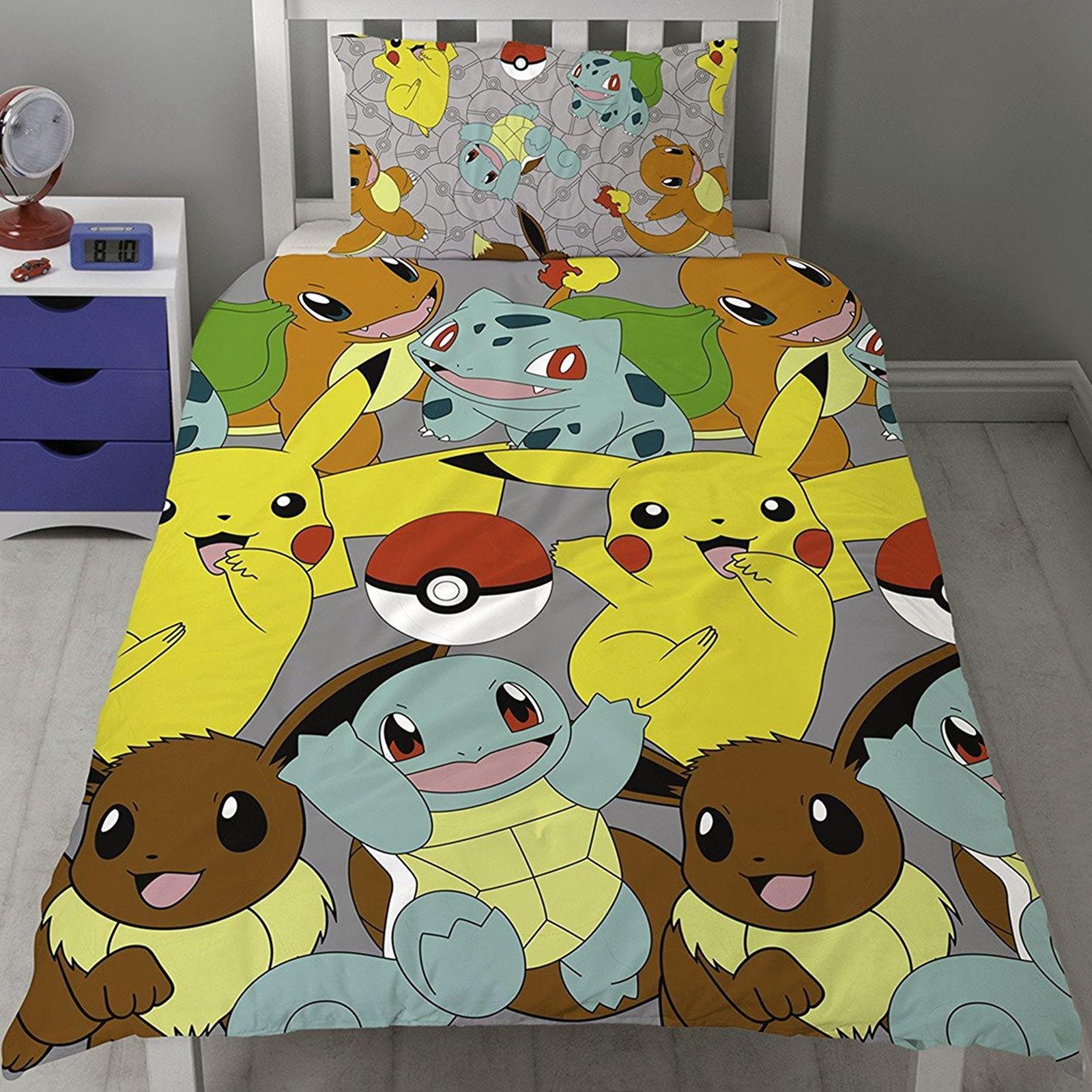 Pokémon Catch UK Single/US Twin Rotary Duvet Cover and Pillowcase Set by Pokemon