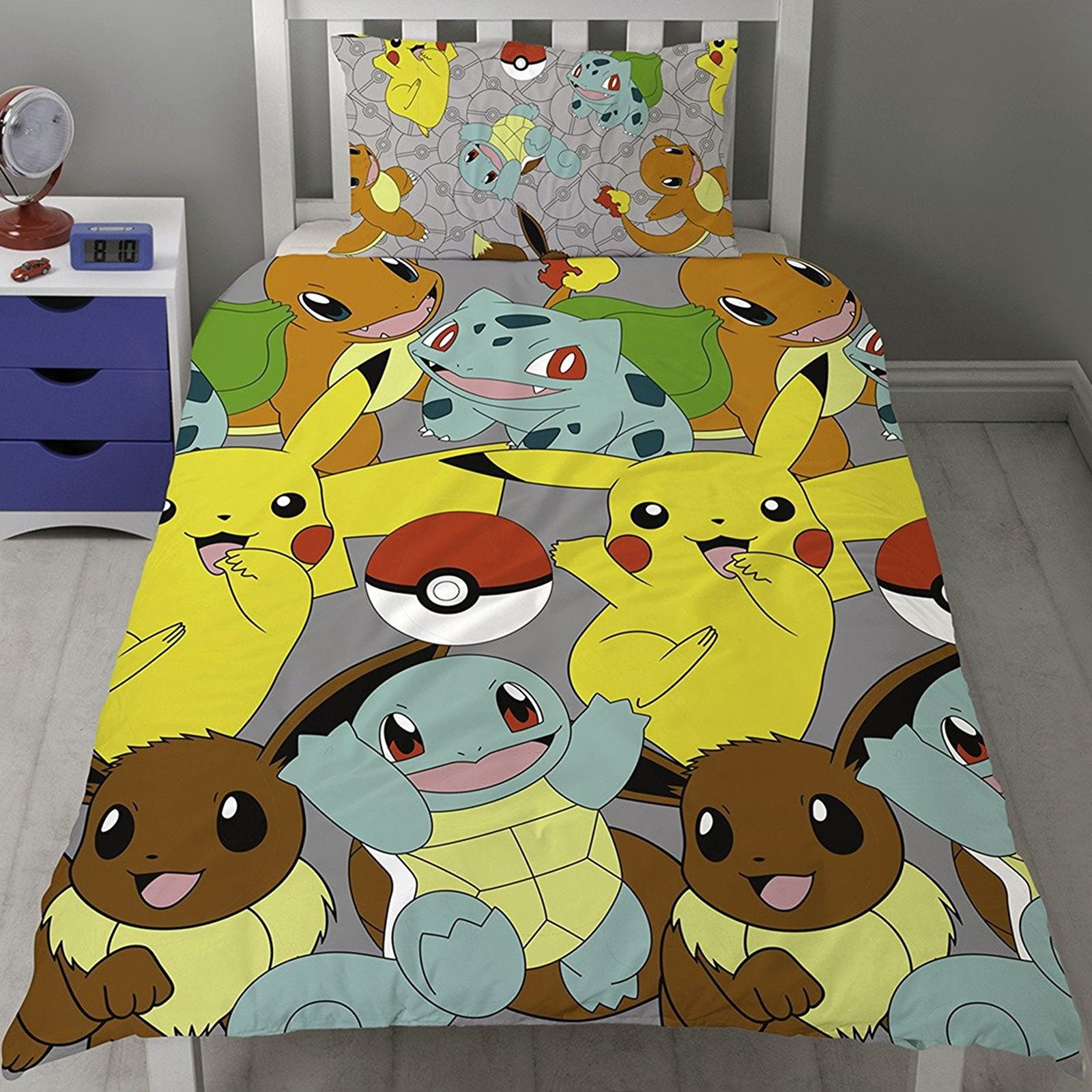 Pokémon Catch UK Single/US Twin Rotary Duvet Cover and Pillowcase Set