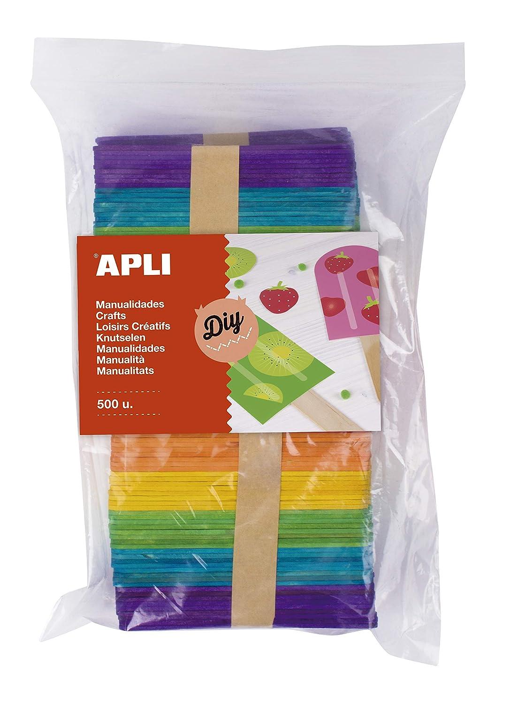 APLI Kids - Palos polo de madera en colores surtidos 500 uds ...