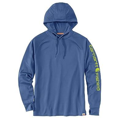 1e2b44f13 Amazon.com: Carhartt Men's Force Fishing Graphic Long Sleeve Hooded T-Shirt:  Clothing