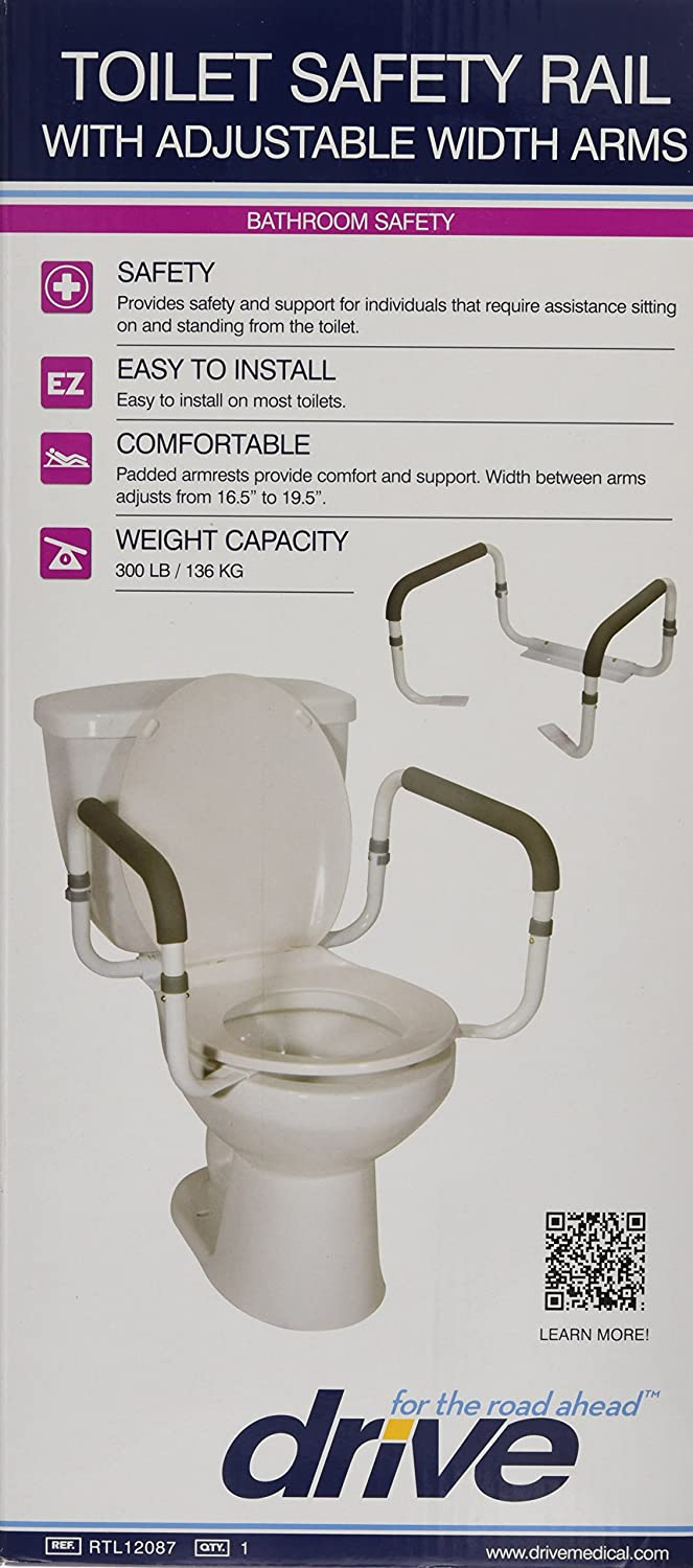 Amazon.com: Drive Medical Toilet Safety Rail: Health & Personal Care