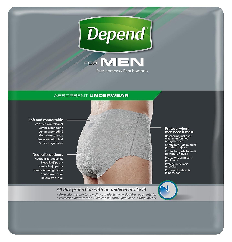 Depend - Pantalones para hombres, talla XL: Amazon.es: Salud y cuidado personal