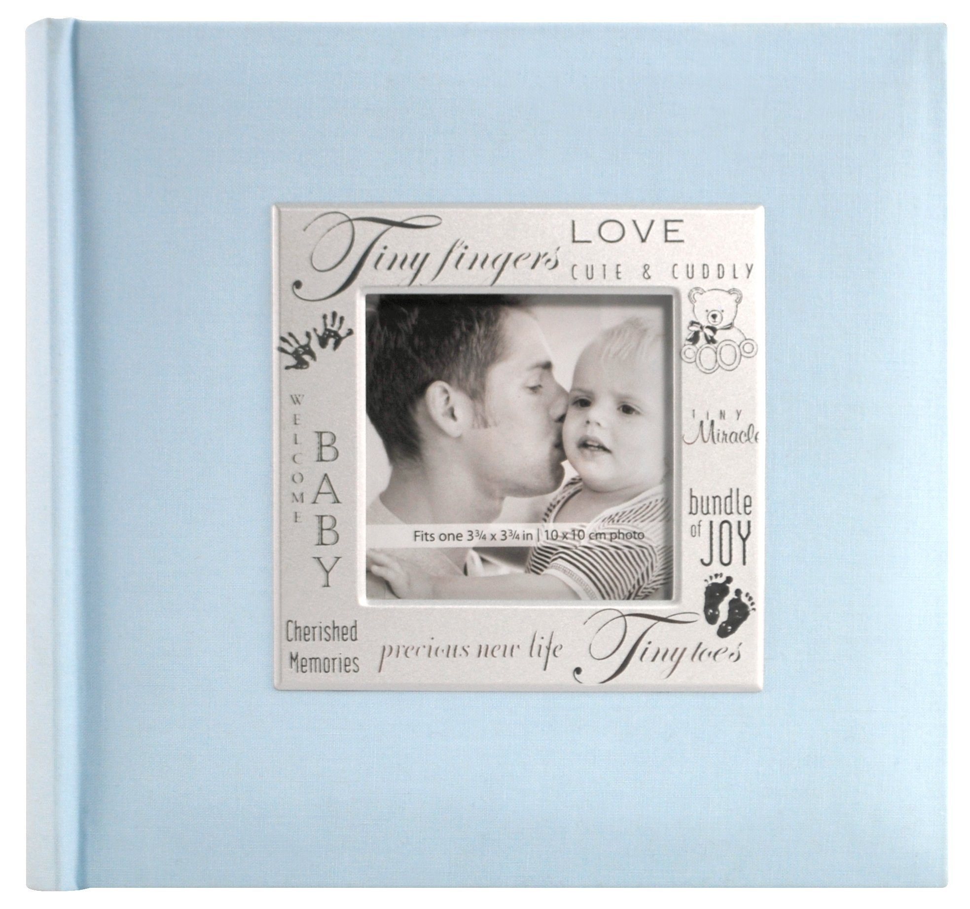 MBI 8.5x8.5 Inch Fabric Expressions Scrapbook, Baby Blue (846610)
