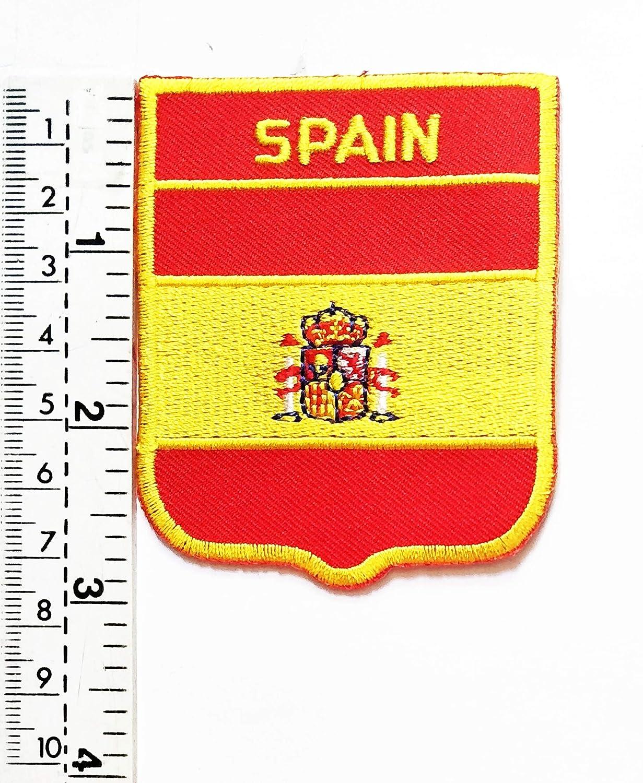 Parche bordado con la bandera de España para chaleco, chaqueta, moto, moto, motociclista, tatuaje, chaqueta, camiseta, parche para coser o planchar, insignia bordada: Amazon.es: Deportes y aire libre