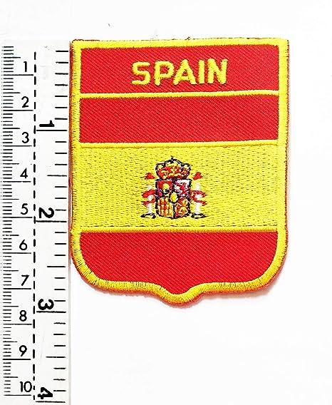 Parche bordado con la bandera de España para chaleco, chaqueta ...