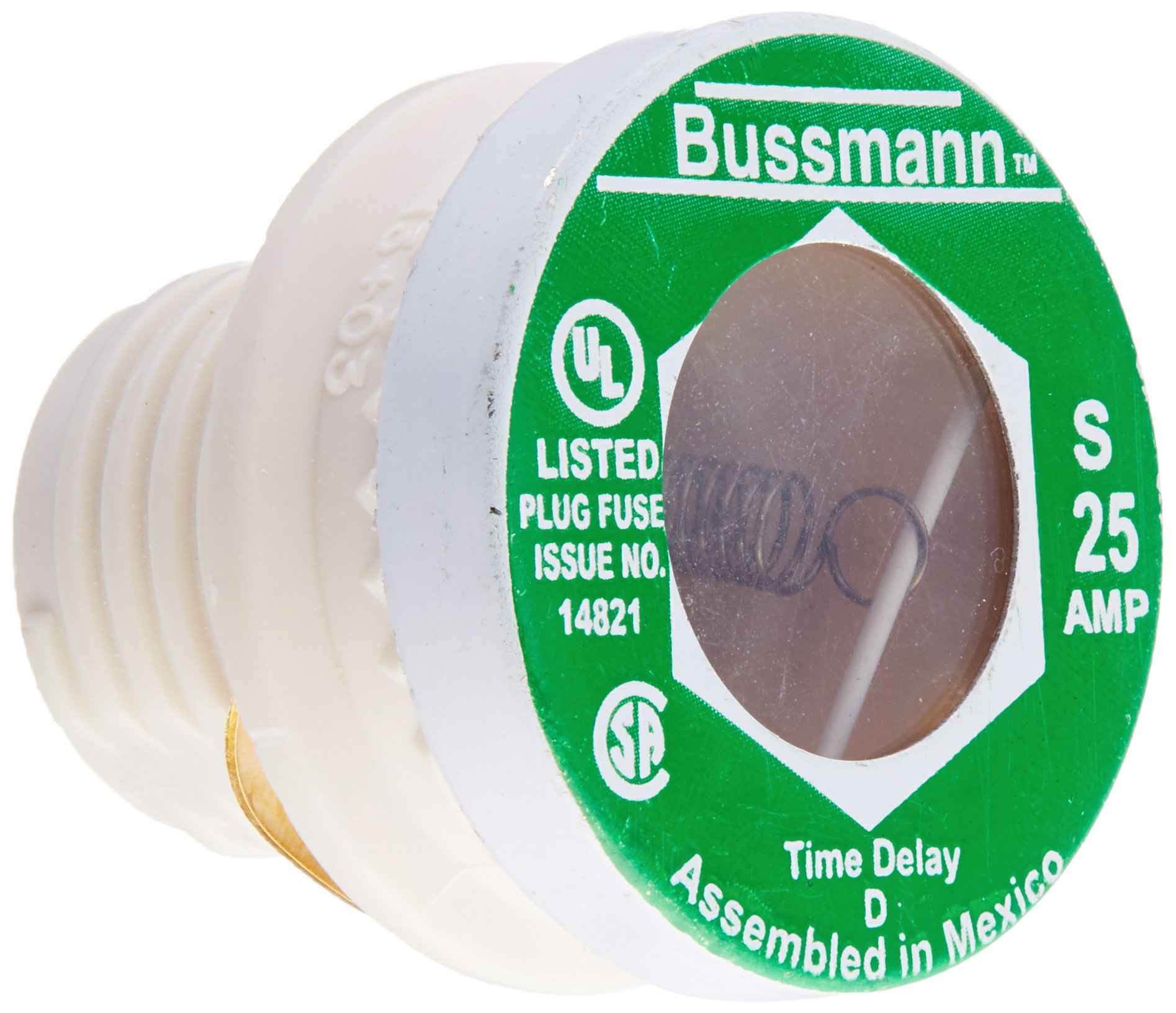 Bussmann S-25 25 Amp Type S Time-Delay Dual-Element Plug Fuse Rejection Base,  125V UL Listed - - Amazon.com