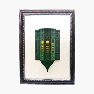 Roshan Nour's House with lights Sculpture by Hijazi Souvenir - Green