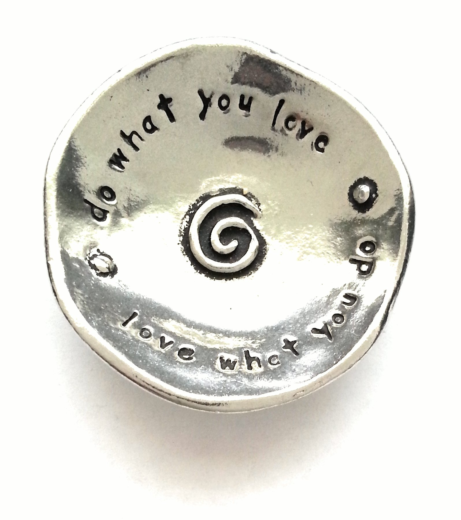 Do What You Love Small Pewter Trinket Dish by Basic Spirit