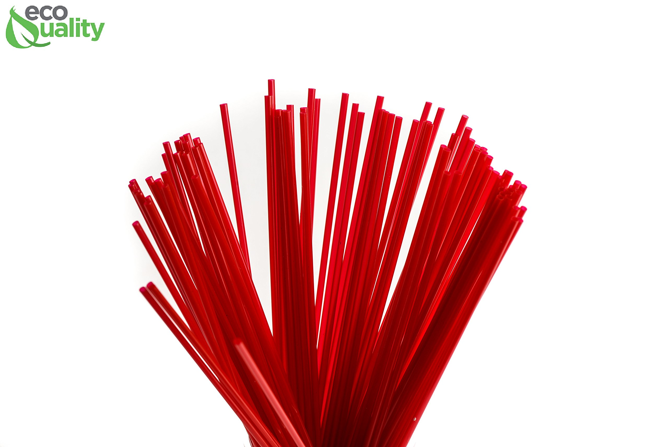 3000 Count Plastic Stirrer 8inch, Sip Stirrer, Sip Straw, For Coffee, Cocktail, Latte and Tea - 8 Inches, 3000/Box, Red