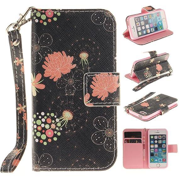 Desconocido Apple iPhone SE iPhone 5S Funda Piel Billetera, Libro Estilo iPhone 5 5S / SE Case Flexible PU Bonita Originales Pintura: Amazon.es: Electrónica