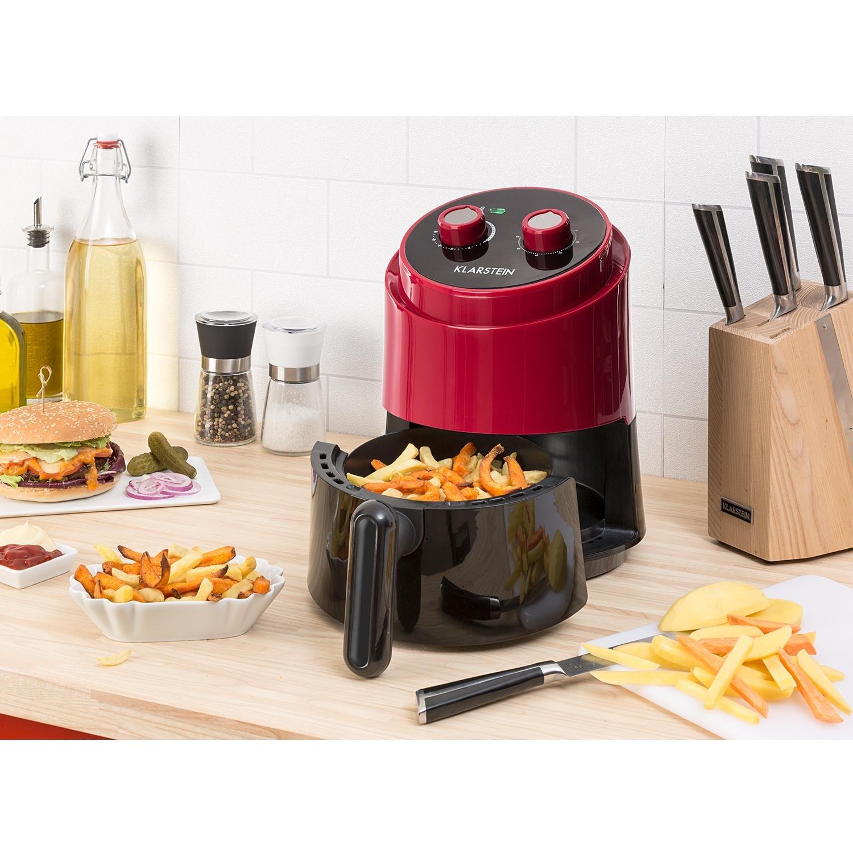 Klarstein Well Air Fry • Freidora • Freidora de aire caliente • Freír sin grasa • Hornear • Cocinar • Asar • 1230 W • 1,5 litros de capacidad • Sin ...