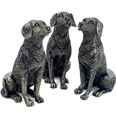 Plant Risers for Pots. Decorative Feet for Planters. Use Indoor and Outdoor to Improve Airflow and Drainage. Hand Painted Sitting Labrador Set of 3: Garden & Outdoor