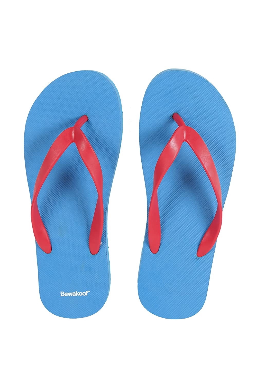 47f9360ecf151a Bewakoof Men s Beachboy Blue Plain Flip Flops Slippers  Buy Online at Low  Prices in India - Amazon.in