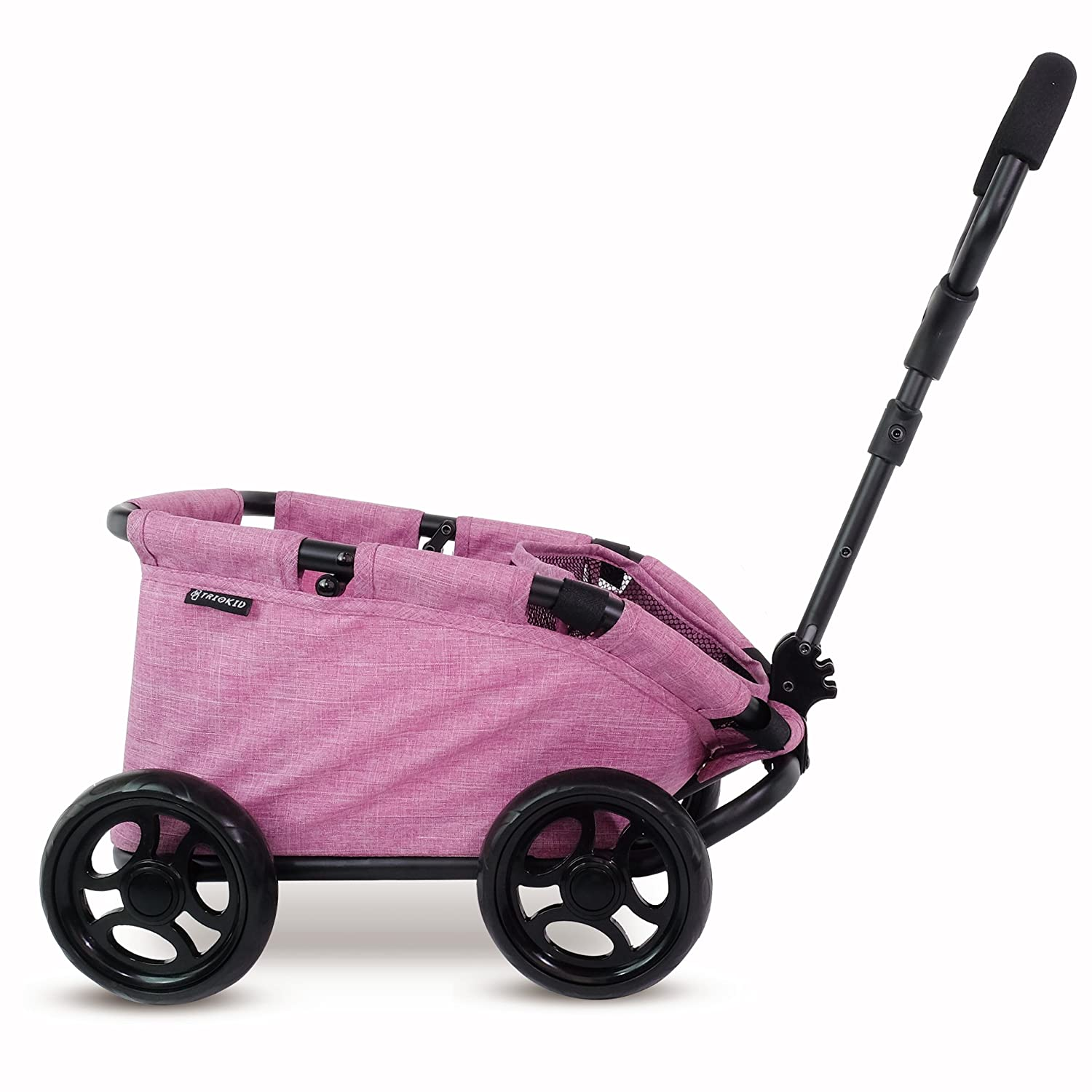 Triokid NEW Design My First Toy Wagon Trioswagon Grape Purple Deluxe Doll Stroller Drawable Fabric   B01N12JSZF