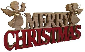 Khevga Deko Schriftzug Xmas Weihnachten Merry Christmas Aus Holz