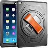 iPad Pro Case, New Trent Gladius Pro iPad Case for iPad Pro 12.9 inch 1 Gen tablet with 360 Degree Rotatable [Rugged: Shock Proof], Built-in Stand, Screen Protector and Leather Hand Strap