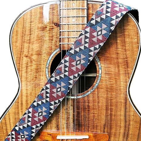"""WINGO Ajustables Correa de Guitarra 2"""" con Cuero Genuino extremos para Bajo Española Clásica Acústica"""