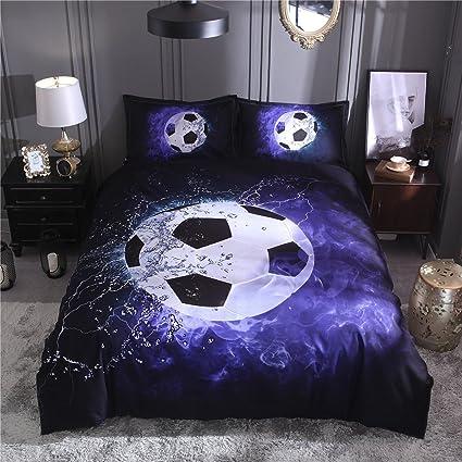 Attirant Tenghe 3D Football Print Duvet Cover Sets For Teen Boys Sports Bedding Sets  Soccer Ball Bed