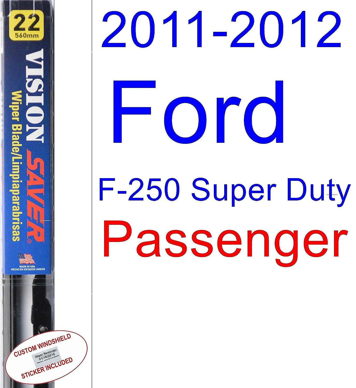 Amazon.com: 2011-2012 Ford F-250 Super Duty Wiper Blade (Driver) (Saver Automotive Products-Vision Saver): Automotive