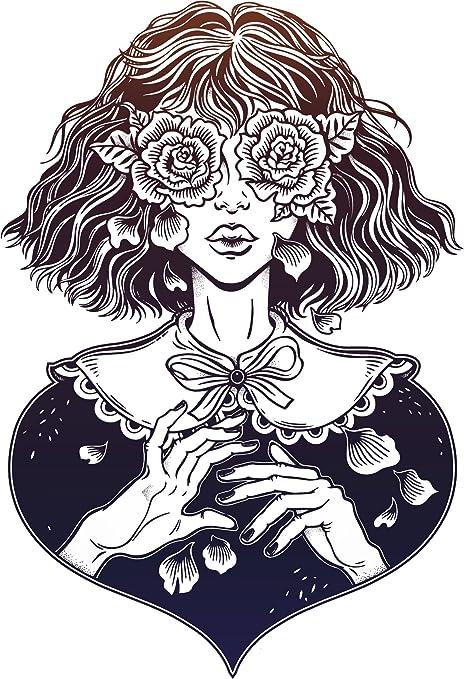 Amazon.com: Hermosa abstracto Mujer con acentos de Floral ...