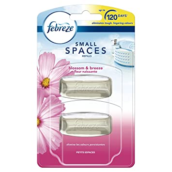 Febreze Small Spaces Air Freshener Refill Blossom and Breeze, 2 x ...