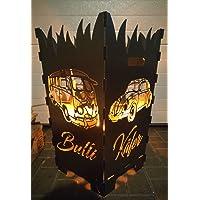 Bulli T1 Käfer Feuerkorb silber kleiner Fire Basket ✔ rund