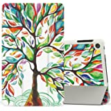 MoKo Case for Fire HD 8 2016 Tablet - Ultra Slim Lightweight Smart-shell Stand Cover with Auto Wake / Sleep for Amazon Fire HD 8 (Previous 6th Generation - 2016 Release ONLY), Lucky TREE