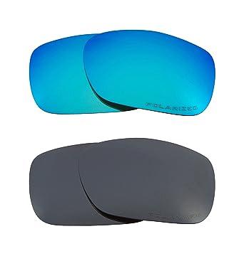 b12ebdfa50f3f Best SEEK Replacement Lenses Oakley TWOFACE Polarized Black Iridium Blue
