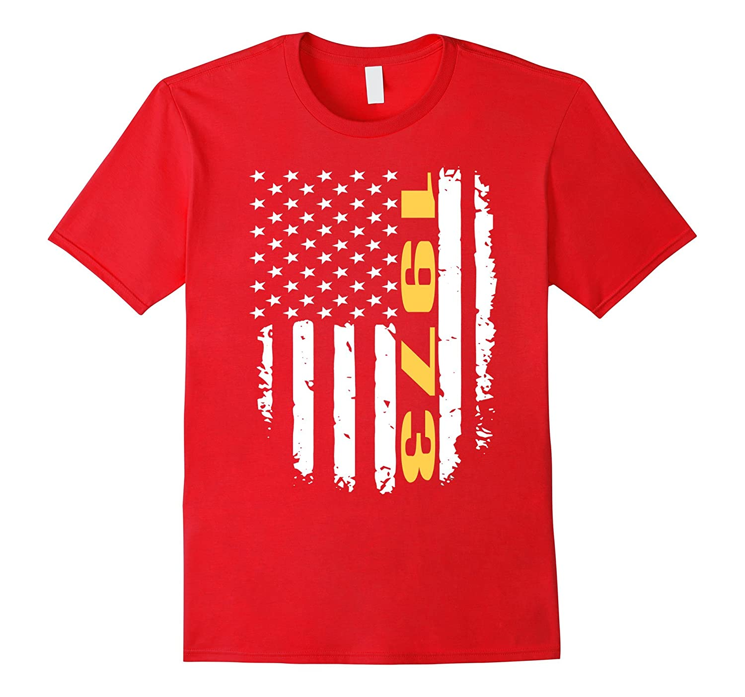 1973 American Flag 44th Birthday Gifts Funny T-Shirt-PL