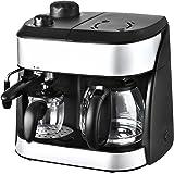 KALORIK 3-in-1 Combi Coffee and Espresso Machine, 1800 W, Black/Silver