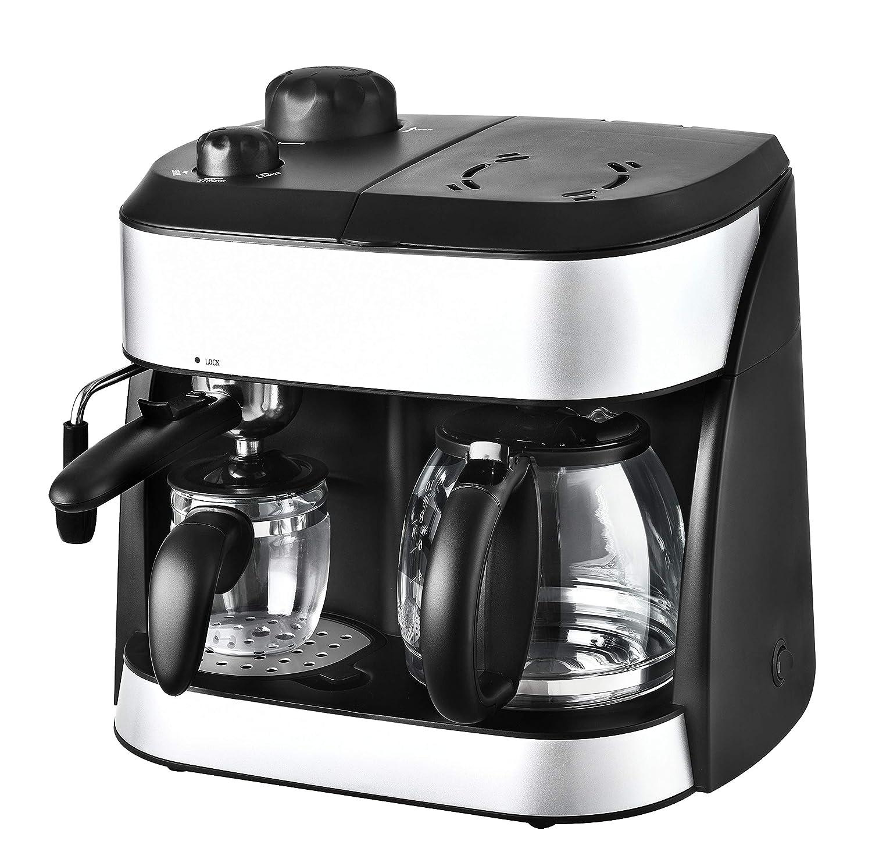 KALORIK 3-in-1 Combi Coffee and Espresso Machine, 1800 W, Black/Silver:  Amazon.co.uk: Kitchen & Home