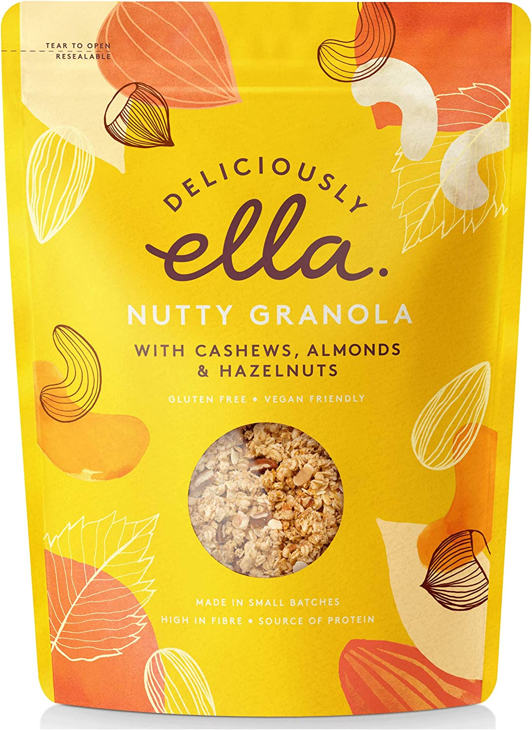 Deliciously Ella Nutty Granola, 12 g, Pack of 12