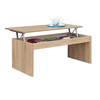Altezza Tavolino Salotto.Habitdesign 001638f Tavolino Modello Zenit Tavolo Da Salotto In Colore Rovere Canadese Misure 102 Cm Larghezza X 43 52 Cm Altezza X 50 Cm