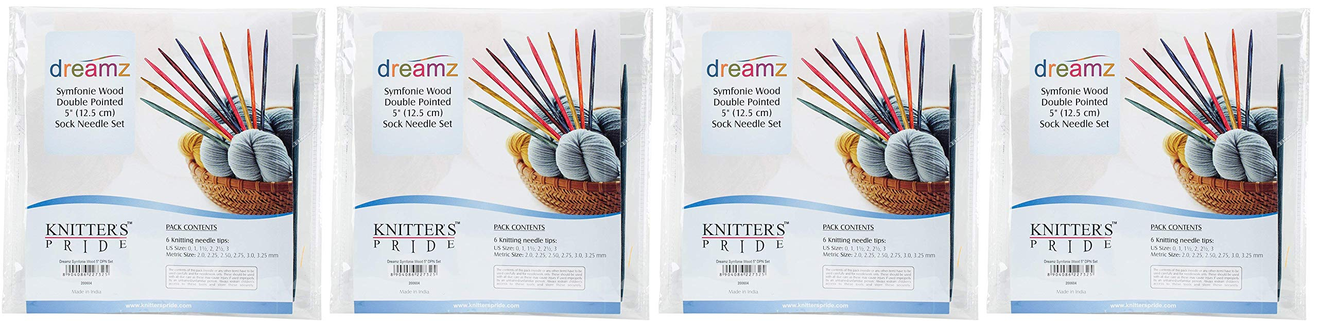 Knitter's Pride Dreamz Double Pointed Needle Socks Kit, 5 (Fоur Paсk) by Knitter's Pride (Image #1)